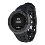 Suunto M5 All Black with a soft textile heart rate belt | Versatile guidance for multi-sport exercise