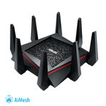 ASUS RT-AC5300 Tri-band 4x4 Gigabit Wireless Gaming Router with AiProtection Powered by Trend Micro, ASUS AiMesh Wi-Fi System (Mesh), WTFast game accelerator inside for free, Link aggregation, adaptive QoS, ASUS router app support, Dual-WAN 3G/4G support, AiCloud 2.0, AiDisk, AiRadar