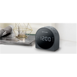 Muse Dual Alarm Clock radio PLL M-185CR AUX in,
