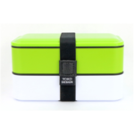 Yoko Design 1627/8077 Lunch Box VERT, BPA Free, Capacity 1,2 L, White/Green