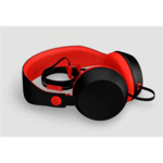 COLOUD BOOM Black/Red Headphones with Mic & Remote/ Flat cable, Tangle-free System