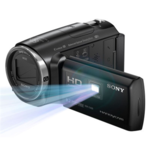"Sony HDR-PJ410EB juoda vaizdo kamera / SteadyShot/Full HD rec./ Built-in projector/ Exmor R™CMOS/ 30x optical zoom/ BIONZ X/ 2.7""(6.7cm) Xtra Fine LCD/ up to 9.2MP photo/ Face Detection/ HDMI output/ Media: Memory Stick micro, SD/SDHC/SDXC"