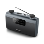 Muse Portable radio M-058R Black, AUX in