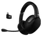 Asus ROG Strix Go 2.4 USB-C 2.4 GHz wireless gaming headset with AI noise-cancelling microphone and low-latency performance for compatibility with PC, Mac, Nintendo Switch, smart devices and PS4