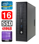 HP 800 G1 SFF Intel Core i7-4790 4Cores/8Threads (3.6-4.0GHz) | DDR3 16GB | SSD 480GB | Intel® HD Graphics 4600 | DVD  | Windows 10 Pro | RENEW