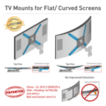 "Barkan Flat/ Curved TV Wall Mount 4400 Wall mount, Full motion, 40-80 "", Maximum weight (capacity) 50 kg, Black"