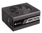 Corsair Power Supply RM750x, 750W, 80 Plus® Gold, Fully-Modular, White
