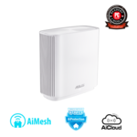 Asus Router ZenWifi AC (CT8) 1 Pack 802.11ac, 10/100/1000 Mbit/s, Ethernet LAN (RJ-45) ports 3, Mesh Support No, MU-MiMO Yes, Antenna type Internal, 1, White