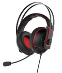 Asus Cerberus V2 Red Gaming Headset with 53mm Asus Essence drivers, Stainless-steel headband and wrap-around ear cushions