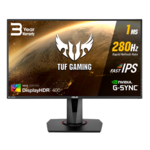 "Asus TUF Gaming VG279QM HDR Gaming Monitor 27"" FULL HD (1920x1080), Fast IPS, Overclockable 280Hz (Above 240Hz, 144Hz), 1ms (GTG), ELMB SYNC, G-SYNC Compatible, DisplayHDR 400"