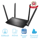 ASUS RT-AC58U v3 AC1300 Dual Band Gigabit WiFi Router with MU-MIMO, AiMesh for mesh wifi system and Parental Controls for smooth streaming 4K videos from Youtube and Netflix