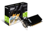 MSI GeForce® GT 710, 2GB DDR3 (64 Bit), HDMI, DVI, D-Sub