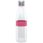 Boddels DREE Drinking bottle, glass Bottle, Raspberry red, Capacity 0.65 L, Yes