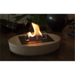 Tenderflame Table fireplace  Carnation 90 MgO  Diameter 33 cm, Height 7 cm, 500 ml, 5 hours, Grey
