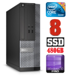 DELL 3020 SFF Intel Core i5-4590 (3.3-3.7GHz) | DDR3  8GB | SSD 480GB | DVD | Intel® HD Graphics 4600 | Windows 10 Pro RENEW