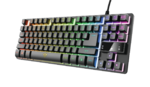 Trust GXT 833 Thado TKL Compact metal gaming keyboard with multicolour LED illumination
