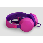 COLOUD BOOM Transition Purple Headphones with Mic & Remote/ Flat cable, Tangle-free System
