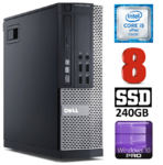 DELL 9020 SFF Intel Core i5-4590 (3.3-3.7GHz) | DDR3  8GB | SSD 240GB | DVD | Intel® HD Graphics 4600 | Windows 10 Pro RENEW