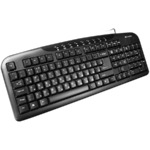 CANYON Wired Keyboard, slim, 116 keys with Multimedia functions, USB2.0, Black, cable length 1.3m, 445*160*24mm, 0.46kg, Lithuanian/Russian/English