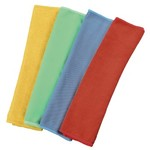 XAVAX Microfibre Cloths 30 x 30 cm blue/green/yellow/red