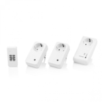 Smartwares SH5-SET-GW 3 wireless power switches, 1 remote White, Controller starter kit