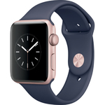 Apple Watch Series 2 42mm Rose Gold Aluminium Case with Midnight Blue Sport Band 1yw