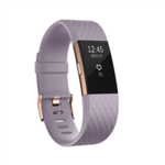 Fitbit Charge 2 Lavender Rose Gold – Large FB407RGLVL-EU OLED, Lavender Rose Gold, Bluetooth, Built-in pedometer, Heart rate monitor, Waterproof, GPS (satellite)