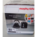 SALE OUT. Morphy richards 222013 Toaster, 2 slices, Black Morphy richards Toaster 222013 Power 850 W, Number of slots 2, Black, DAMAGED PACKAGING