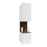 Tenderflame Fireplace Soul 180 Diameter 40 cm, 180 cm, 1050 ml, Burning time about 3.5 hours, White