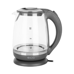 ECG Electric kettle RK 2020 Grey Glass, 2 L, 360° base with power cord storage, Blue backlight, 1850-2200 W