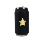 Yoko Design Isotherm Tin Can, Black with star pattern, Capacity 0.28 L,