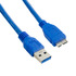 MODELIS: 08961<br />4WORLD 08961 4World USB 3.0 Cable AM- Micro BM 1.0m blue