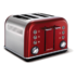 MODELIS: 242020<br />Toaster Morphy richards 242020 Red, Stainless steel, 1880 W, Number of slots 4, Number of power levels 7,