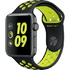 MODELIS: MP0A2CN/A<br />Apple Watch Nike+ 42mm Space Grey Aluminium Case with Black/Volt Nike Sport Band 1yw