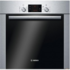 MODELIS: HBA63R250S<br />Bosch HBA 63R250S Pyrolytic Oven, 60L, 6 Functions, 1-level telescopic guides, A-10%, Push-Pull knobs, Display, VARIO Grill, Granit Enamel, Inox