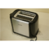 MODELIS: HD2586/20SO<br />SALE OUT. PHILIPS HD2586 Toaster Philips Daily Collection HD2586/20 Black/Silver, 950 W, DEMO, SCRATCHED GLOSSY SURFACE, 2, 7, Stainless steel, No