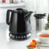 MODELIS: 07706<br />BEEM Water and Tea Maker  with Mug 7706 i-Tea  With temperature regulation, Porcelain. Black base station with stainless steel applications and blue illuminated control buttons., Black, 1630 W, 360° rotational base, 0.85 L