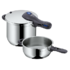 MODELIS: 792669990<br />WMF PERFECT Pressure Cooker pot set 6.5 and 3 L, Cromargan® 18/10 stainless steel, Stainless steel, Dishwasher proof, Lid included