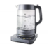 MODELIS: 17422013<br />Carrera Kettle 651 With electronic control, Glass, Glass/ black, 2200 W, 360° rotational base, 1.7 L