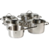 MODELIS: 0721056380<br />WMF Cookware set 5-piece, 4 pots (16/2x20/24 cm), 1 stewing pan (16 cm) Provence Plus  Cromargan stainless steel 18/10, Stainless steel, Dishwasher proof, Lid included