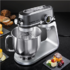 MODELIS: 18476011<br />Carrera Stand mixer 657 Grey, 800 W, Number of speeds 8, Shaft material Stainless steel