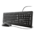 MODELIS: 23975<br />Trust TKM-250 Silent keyboard and mouse set for comfortable working