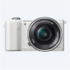 "Sony Alpha 5100 White with 16-50mm lens, 24.3MP Exmor APS-C CMOS sensor, 3.0"" LCD, Zoom 4x, 25 points AF, Wi-Fi"