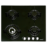 MODELIS: 08068303<br />CATA Hob  CB 631 A  Gas on glass, Number of burners/cooking zones 4, Black,