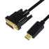 MODELIS: CV0130<br />LOGILINK - DisplayPort to DVI cable, black, 1m