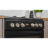 MODELIS: IS5G8CHB/PO<br />INDESIT Cooker IS5G8CHB/PO Hob type Gas, Oven type Electric, Black, Width 50 cm, Grilling, 57 L, Depth 60 cm