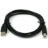 MODELIS: CU0007BLACK<br />ACC USB 2.0 connection cable USB A male, USB B male, 1.8 m, black