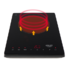MODELIS: AD 6513<br />Adler Hob AD 6513 Number of burners/cooking zones 1, Induction, LCD Display, Black
