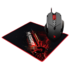 MODELIS: V7M71<br />A4Tech V7M X'Glide Multicore +B-071 mouse pad wired, Black, Red, Gaming Mouse Bundle. USB