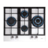 MODELIS: 08041100<br />CATA hob  LCI 6031 WH  Gas on glass, Number of burners/cooking zones 4, Rotary knobs, White